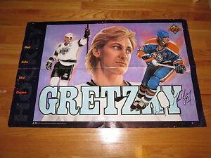 1992 WAYNE GRETZKY 34 in. x 24 in. UPPER DECK Poster LA KINGS EDMONTON OILERS