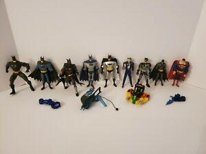 Lot / 9 Vintage DC Superhero Justice League Action Figures Batman Joker Superman