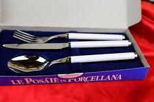 BARILLA Besteck Set Posate in porcellana bianca Gabel Messer Löffel Porzellan