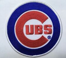 """Cubs patch Chicago Cubs patch 4 5/8"""" diameter heat seal iron on backing"""