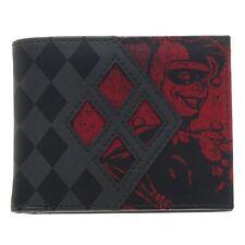 Official Black Batman Harley Quinn Character and Logo Bi-fold Wallet - DC Comics