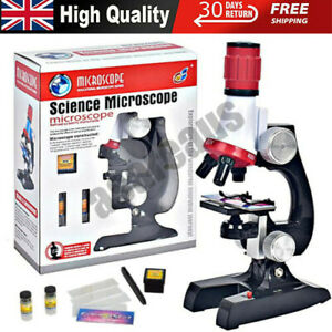 Children's Kids Junior Microscope Science Lab Set with Light Education Toy Kits