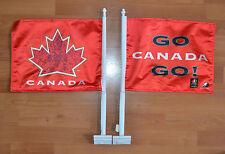 TEAM CANADA + HOCKEY CANADA + CAR WINDOW FLAG + DOUBLE SIDED + 2010 OLYMPICS