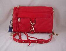 Rebecca Minkoff Mac Clutch in FIRE ENGINE with Light Gold Hardware NWT