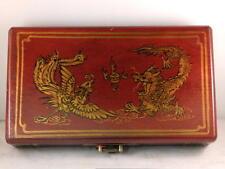 A123 Abakus Rechnen brett Holz perlen Su Pan.Abacus rot Drachen Phönix