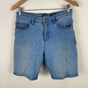 Lee Mens Shorts Size 30 Blue Denim Stretch Fitted Slim Fit 202.14