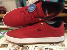 DC MIKE TAYLOR MENS SIZE 9 RED WITH B&W SKATEBOARDING SHOES, NWOB