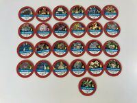 Pokemon Master Trainer Board Game Replacement Parts 25 Red Pog Chips 1999