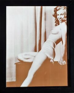 Bilderrahmen Plakat Foto Sepia Marilyn Monroe - 40 X 32 CM
