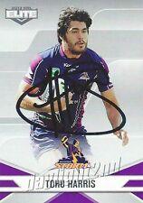 ✺Signed✺ 2013 MELBOURNE STORM NRL Card TOHU HARRIS