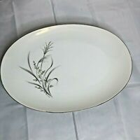 "Vintage Castlecourt Wheat Spray Japan China 12"" oval platter EUC"