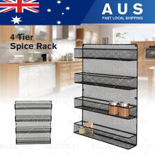 4 Tier Kitchen Cupboard Storage Spice Rack Pantry Bottle Organizer Wall Mount