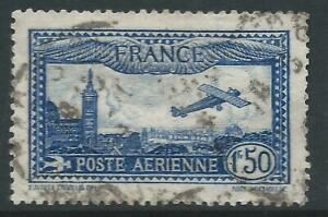 France 1930 Airmail 1f 50c Blue Good Used stamp