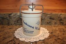 VINTAGE KAUKAUNA KLUB STONEWARE CHEESE CROCK WITH LID