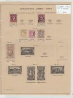 Greece Stamps On 2 Pages Ref: R7270