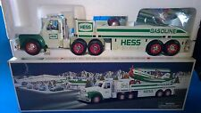"2002 HESS Battery Operated ""TOY TRUCK & AIRPLANE"" Lights Sound 14.25"" New"