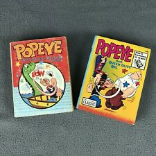 Popeye The Sailor Man Big Little Books Lot Of 2 VTG 1967-73 Whitman Kids Cartoon