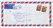 BT136 1981 South Africa DURBAN Cubierta de correo aéreo comercial {samwells} Pts