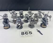 13 X Warhammer 40K Gris Caballero huelga escuadrón de plástico