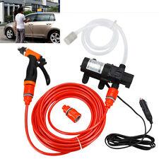 Portable Electric 80W 130PSI High Pressure Car Washer Wash Pump 12V Clean Set