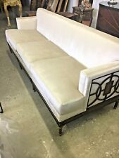 New Hand Made Art Deco Style Sofa .hand Caved Wood And Inlay