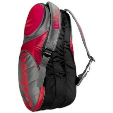 WILSON TEAM 12 PACK RED GRAY TENNIS RACQUET RACKET BACKPACK BAG NWT