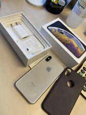 Apple iPhone XS - 64GB - Argento (Sbloccato) Completo Di Scatola E Accessori