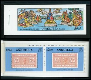 Anguilla Scott #354 MNH BOOKLET of 5 PAIRS Sir Rowland Hill CV$4+