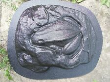 """Gostatue Mold plaster,concrete frog stepping stone mould 11"""" x 9"""" x 1"""""""