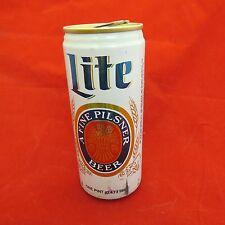 "Miller ""Lite"" empty beer can, 16 oz, aluminum"