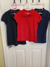 X3 Girl School Uniform Shirts Old Navy Blue & Red & Cat & Jack Blue Size 10-12