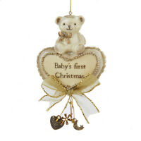 Baby's First Christmas Ornament Bear and Heart By Kurt Adler-Holiday!