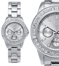 Damen Armbanduhr Silber Crystal Datum Edelstahl GX08008594 von gooix 139,90 UVP