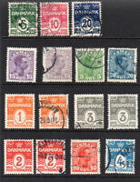 Denmark 1905-17 Selection of Mainly used Stamps (5380)