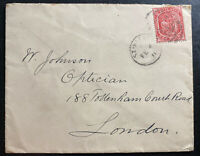 1911 St Kitts & Nevis Cover To London England