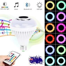 E27 RGB Bluetooth LED Smart Music Audio Speaker Globe Bulb Light Lamp+Control AU