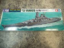 WWII Japanese IJN Battleship Yamato 1/700 Scale Model Ship Kit New! Tamiya 31113