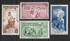 Séries 4 new Stamps** 1941 INDO-CHINA  Protection of indigenous children (3882z)