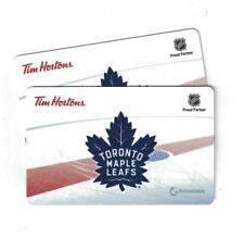 ( 2 ) Tim Hortons 2017 TORONTO MAPLE LEAFS Gift Cards
