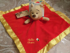 NWT DISNEY SECURITY BLANKET WINNIE POOH HELLO THERE KIDS PREFERRED BEE RED GOLD