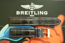 BREITLING 20-18 GENUINE BROWN CROCODILE TONGUE BUCKLE WATCH BAND WATCHBAND STRAP