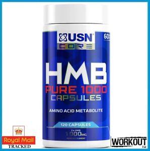 USN HMB Pure 1000 Amino Acid Metabolite 120 Capsules