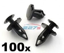 100x 8mm Lungo Nero Bordo clip- VW T4 & T5 Tappetino & Furgone Rivestimento