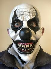 SCARY KILLER CLOWN MASK BALD HEAD LATEX FULL HEAD HORROR HALLOWEEN COSTUME