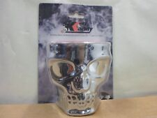 Skull Face Motorcycle Cup Holder Kruzer Kaddy Fits Universal Handlebars Chrome