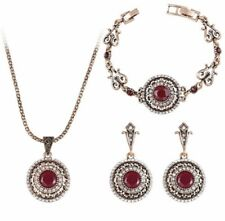18k Gold Plated Retro Rajistan Style Necklace and Earring Sets