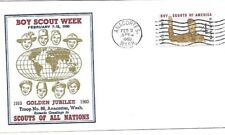 1960 Golden Jubilee Cachet Boy Scout Week Troop 86 Anacortes Washington