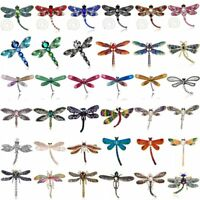 Charm Women Crystal Pearl Animal Dragonfly Enamel Brooch Pin Jewelry Party Gift