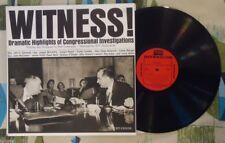 Witness! 2 LP Congressional Hearings Jimmy Hoffa Casey Stengel Mickey Mantel