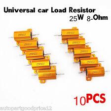 10 Pcs Car Load Resistor 25W 8-Ohm Fix LED Bulb Hyper Flash Turn Signal Blinker